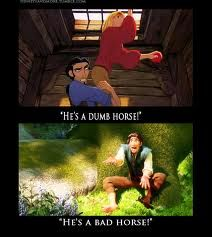 Tulio and Eugene have bad experiences with horses XD