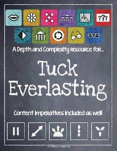 Tuck Everlasting enrichment activities | Chapter Book: Tuck ...