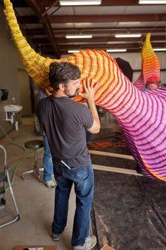 Crayon Fire Sculptures by Herb Williams Texas sculpture fire crayons