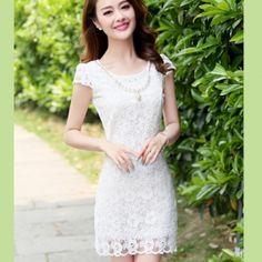 Đầm ren hoa thiết kế phong cách Hàn Quốc