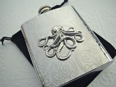 Hip Flask Octopus Gothic Victorian Silver Vintage - I'm not gonna lie....I totally want this!