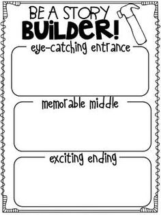 story builder graphic organizer...writer's workshop