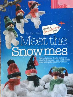Excited to share the latest addition to my #etsy shop: Alan Dart's Snowmes Knitting Pattern Simply Knitting, Double Knitting, Baby Knitting, Alan Dart, Christmas Knitting Patterns, Knit Patterns, Knitted Dolls, Crocheted Toys, Knitting Magazine
