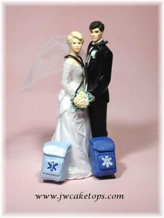 EMS wedding cake topper