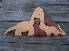 puzzle dinosaure bois scie à chantourner Coupe du par BasketsByDebi, $20.00