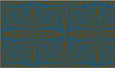 Square Faux Bois  Brown on Blue