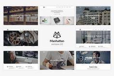 Manhattan - Multi-Purpose HTML5 by weibergmedia on @creativemarket