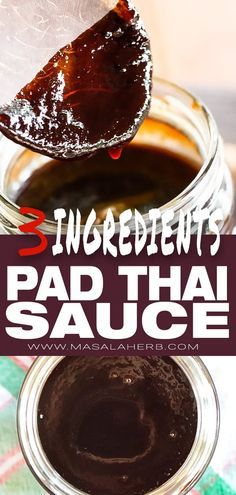 Easy Pad Thai Sauce Recipe - 3 ingredients [DIY] Tamarind Paste, brown palm sugar and fish sauce. So easy to make but important to maintain a balance of sweet, sour and salty flavors in this amazingly useful pad thai stir fry sauce. Tamarind Recipes, Tamarind Sauce, Thai Recipes, Recipes With Tamarind Paste, Asian Recipes, Recipes With Fish Sauce, Sauce Recipes, Pad Thai Sauce Recipe Easy, Vinaigrette
