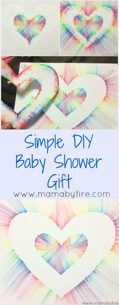 This DIY Baby Shower Gift is gorgeous and so much fun for the kiddos to make.