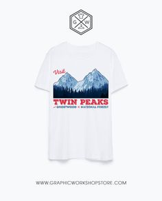 Visit Twin Peaks T-Shirt // Laura Palmer Agent Cooper Fire Walk With Me David…