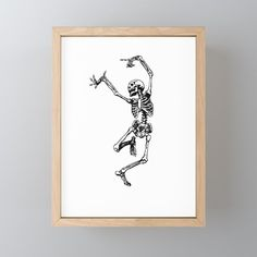 Buy DANCING SKULL Framed Mini Art Print by denzhu. Worldwide shipping available at Society6.com. Just one of millions of high quality products available.