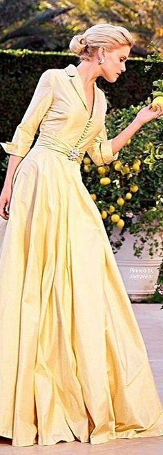 Pastel Yellow, Shades Of Yellow, Color Yellow, Yellow Fashion, Colorful Fashion, Party Fashion, Fashion Art, Lady And Gentlemen, Chiffon