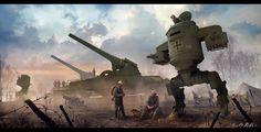 "ArtStation - ""Big Bertha"" and ""Iron Hans"", Vladimir Manyukhin"