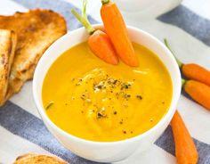 Porkkana-inkiväärikeitto, resepti – Ruoka.fi - Carrot ginger soup for Halloween party