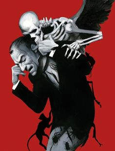 Image: Graphic book illustration of Attack of the Vampire by Fernando Vicente in Dracula - Illustrated Edition
