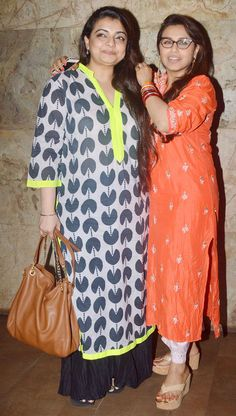 Rani Mukerji with Vaibhavi Merchant at special screening of Mardaani. #Bollywood #Fashion #Style #Beauty
