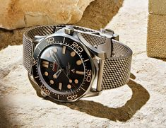 """007 rocks a titanium Seamaster Diver with a Master Chronometer-certified movement in """"No Time to Die."""" And it's not a limited edition. Omega Seamaster James Bond, Omega Watches Seamaster, Omega Seamaster Diver 300m, Seamaster Watch, Omega Speedmaster, James Bond Watch, New James Bond, Sport Watches, Cool Watches"""