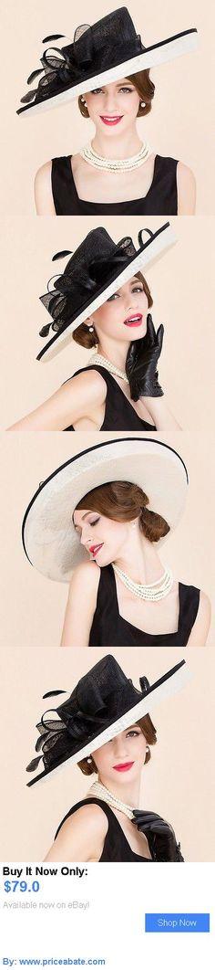 Women Formal Hats: New Womens Kentucky Derby Church Wedding Noble Dress Linen Feather Sinamay Hat BUY IT NOW ONLY: $79.0 #priceabateWomenFormalHats OR #priceabate