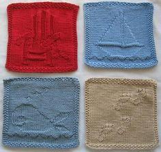So cute!  Sea & Sand Wash Cloths pattern $8.00 on Craftsy.com