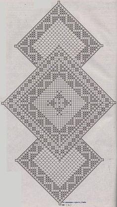 Tischlaufer Filethakeln Filet Crochet