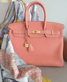 Calf Leather Birkin in Salmon