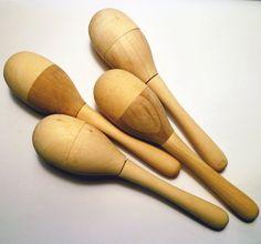 Wooden Maracas Craft (Pkg 24) - Urban Homesteaders - 2