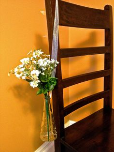 etsy Swiss Dot Flower Vase - Ceremony Aisle, Event Chair, Wedding Pew Decor. $9.00, via Etsy.