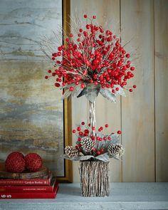 Winter Fantasy Tabletop Topiary, Multi Colors - Neiman Marcus