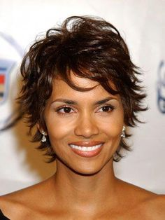 Hair Beauty - Celebrity Short Hair - Pictures of Short Hairstyles - Good Housekeeping Short Shaggy Haircuts, Short Shag Hairstyles, Short Haircut Styles, Short Hairstyles For Women, Hairstyles Haircuts, Feathered Hairstyles, Halle Berry Hairstyles, Celebrity Hairstyles, Shaggy Short Hair