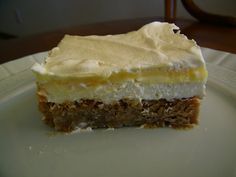 White Chocolate Macadamia Nut Dream - layers of cookie, cream cheese, pudding and whipped topping