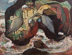 § CLIFTON PUGH (1924-1990) Seabirds 1989 oil on board