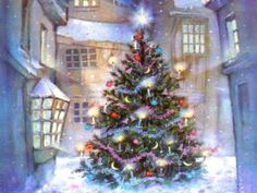 1 Hour Of Traditional Christmas Music With Beautiful Christmas Scenes - Reprise! Animated Christmas Tree, Christmas Scenes, Noel Christmas, Christmas Music, Vintage Christmas Cards, Christmas Images, Christmas Greetings, Christmas Lights, Christmas Decorations