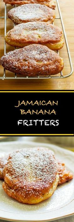 Fritters Super easy Jamaican banana fritters are light, fluffy and soooooo tasty. It is a cross between a donut and mini pancakes.Super easy Jamaican banana fritters are light, fluffy and soooooo tasty. It is a cross between a donut and mini pancakes. Just Desserts, Delicious Desserts, Dessert Recipes, Yummy Food, Dinner Recipes, Banana Recipes, Donut Recipes, Cooking Recipes, Budget Cooking