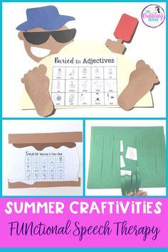 summer crafts speech
