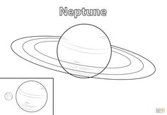 how to draw neptune step by step