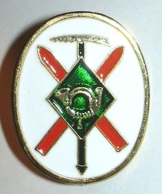 SPAIN MOUNTAIN TROOPS SKIER CLIMBER BERET BADGE