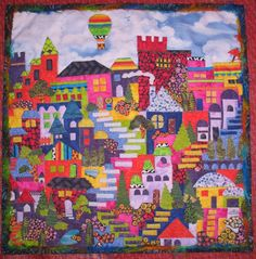 I finished this Nov. 14, 2014! Took a class from Karen Eckmeier on Happy Villages. SO MUCH FUN!
