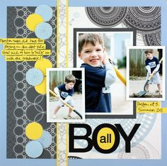 scrapbook page layouts | ... Page Layout Themes for Scrapbooking, Scrapbooking School Theme Layouts