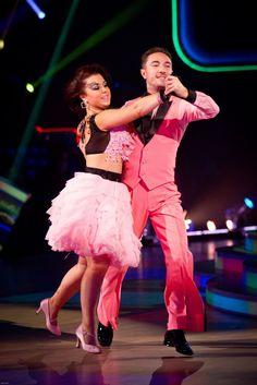 Dani Harmer and Vincent Simone - Strictly Come Dancing - Week 7 - Nov 2012