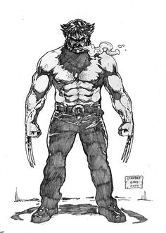 Logan - drawing made as a daily sketch theme. Marvel Xmen, Marvel Comic Universe, Marvel Art, Marvel Heroes, Comic Book Characters, Comic Book Heroes, Comic Character, Marvel Characters, Wolverine Art