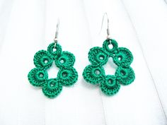 PDF Tutorial Crochet Pattern...Dangle Earrings from HANDMADE PRODUCTS by DaWanda.com
