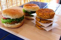 These are the most delicious, juicy, tender veggie burgers you'd ever have!