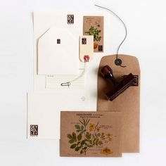 Deyrolle by Agence Halley des Fontaines, branding, logo, identity design, note-paper, recycled envelope, stamp, label