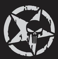 The Punisher Skull Car Sticker Pentagram Vinyl Decals Motorcycle Accessories 0255 in 2020 Jeep Stickers, Jeep Decals, Vinyl Decals, Cool Car Stickers, Punisher Skull Decal, The Punisher, Punisher Tattoo, Punisher Logo, Cbr Fireblade