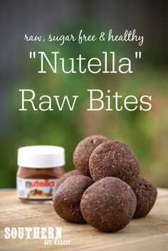 Nutella Raw Bites - Gluten Free, Sugar Free, Freezer Friendly, Clean Eating Friendly, Raw, Vegan