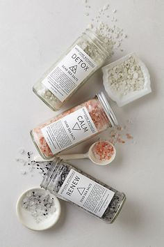 Herbivore Botanical Bath Salt - Love the simple and minimalistic design with geometric shapes.