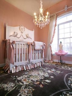 Princess in Training Outfitted in oversize bows and antique-inspired, for the ultimate girly-girl. With one feminine color scheme in mind — pink, crème and brown You Might Also Like... See more of this soft and serene nursery by RMS user Decorography.