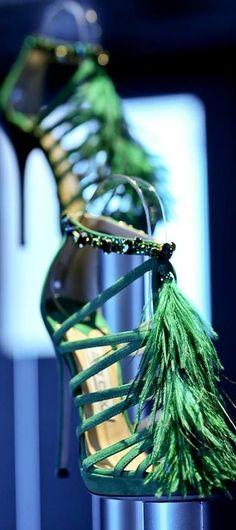 Fab. Jeweled & Feather Tassels at: Jimmy Choo