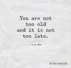 . #age #late