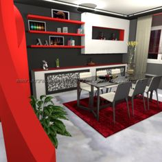 il mobile bar separa ingresso e soggiorno   loft in stile urban ... - Soggiorno Urban Chic 2